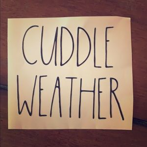 Rae Dunn decal cuddle weather